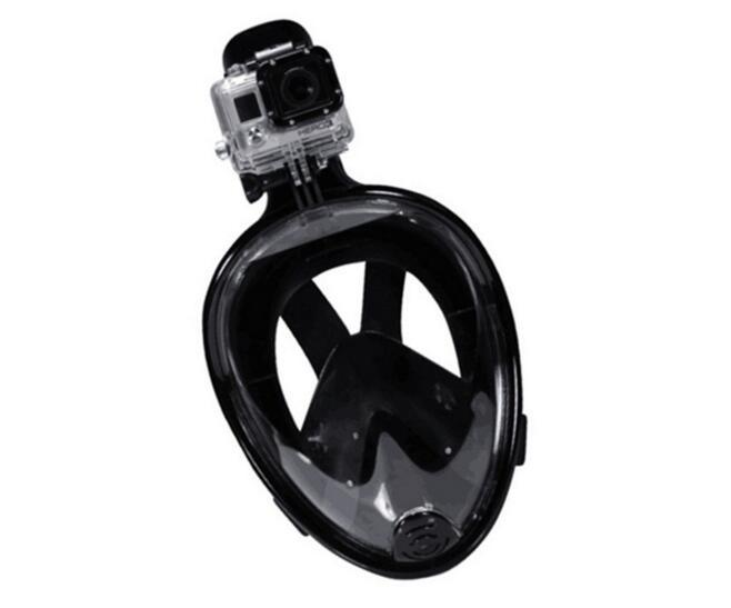 Full Face Free Breathing Design with Anti-Fog Snorkel Mask
