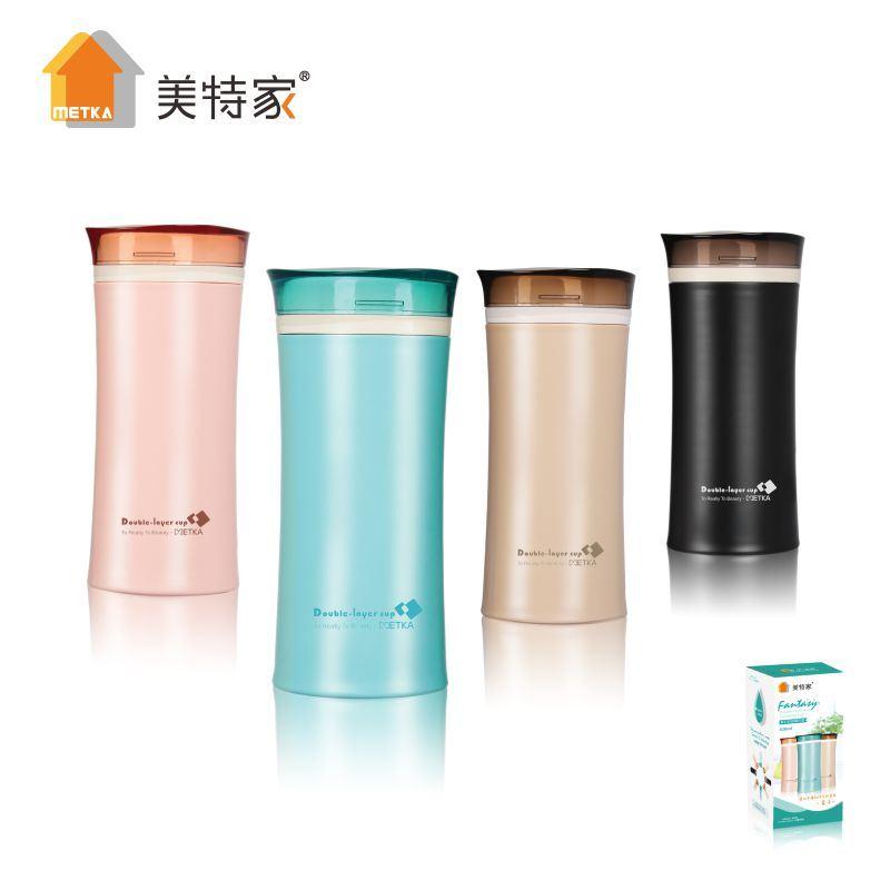6112 Metka Household Plastic Two-Layer Heatproof Water Cup 420ml