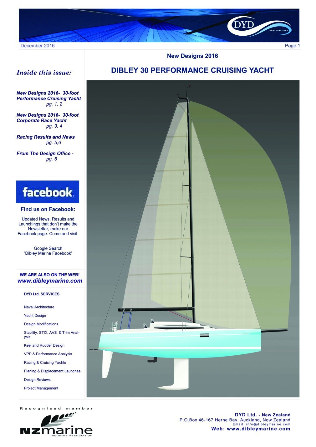 30′ Fiberglass Dibley Sailing Yacht Cruising Yacht Hangtong Factory-Direct