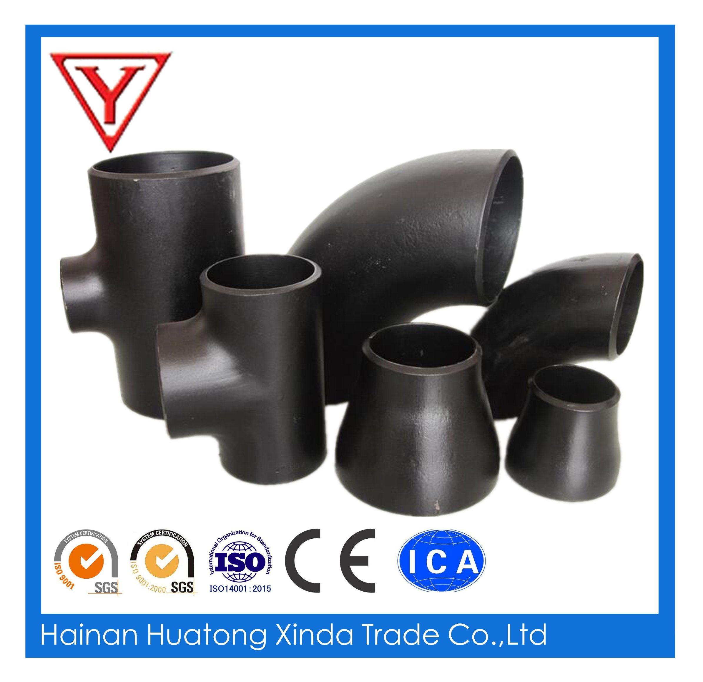 Carbon Steel Butt Weld Seamless Pipe Fitting Tee