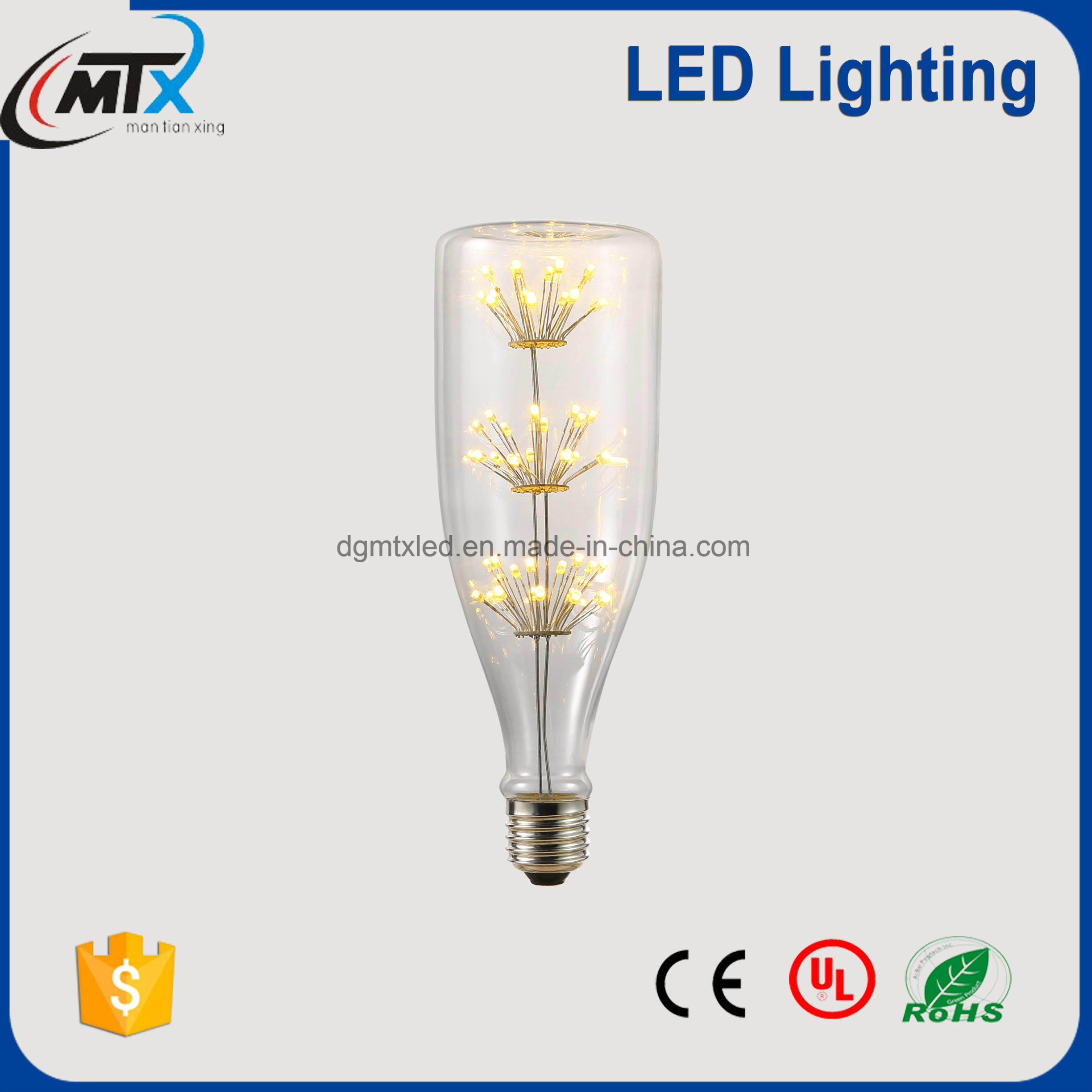 LED rechargeable emergency light bulb 2700K, LED diode 3W bulb