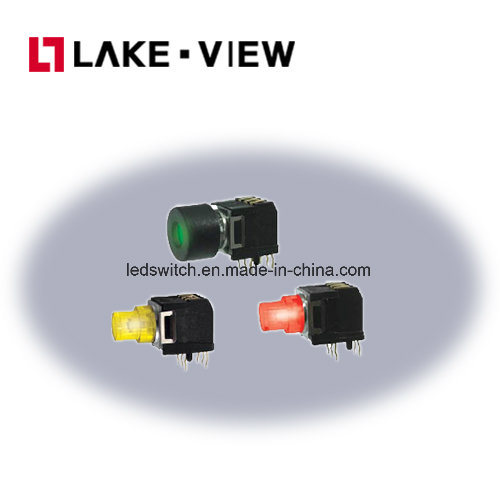Right Angle LED Illuminated Tactile Switch Applications Include Telecommunications Equipment