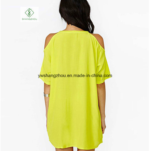 2017 Fashion Euramerican Short Sleeved Chiffon Strapless Maxi Dress Factory