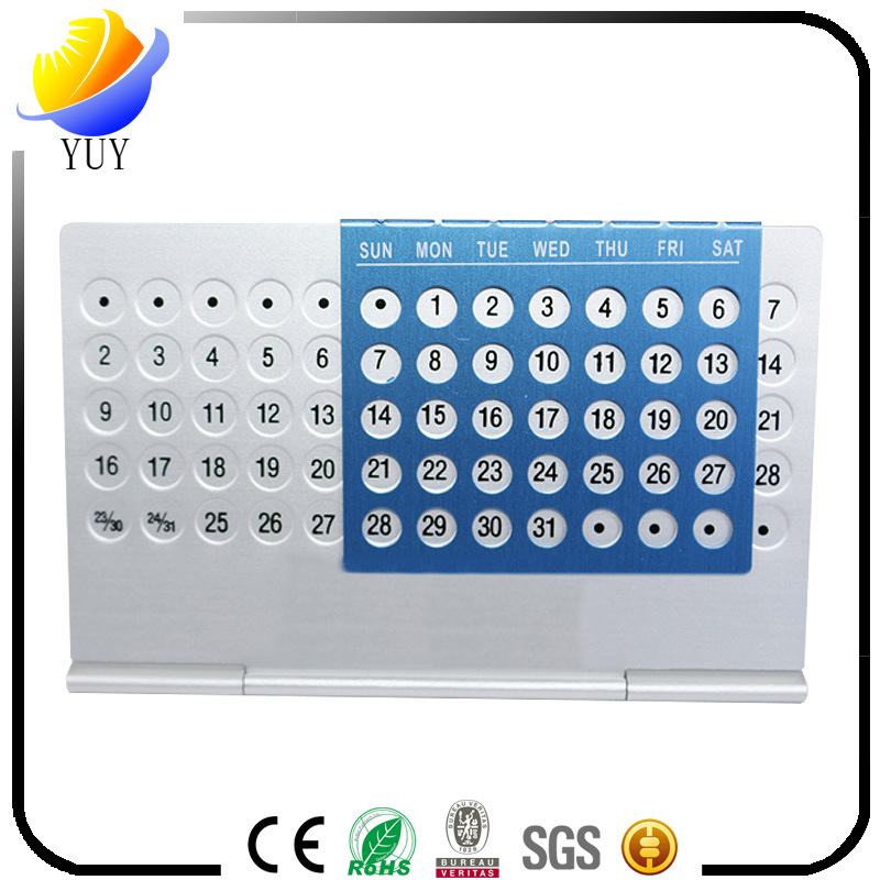 2017 Salable Metal Aluminum Perpetual Calendar for Promotional Gifts