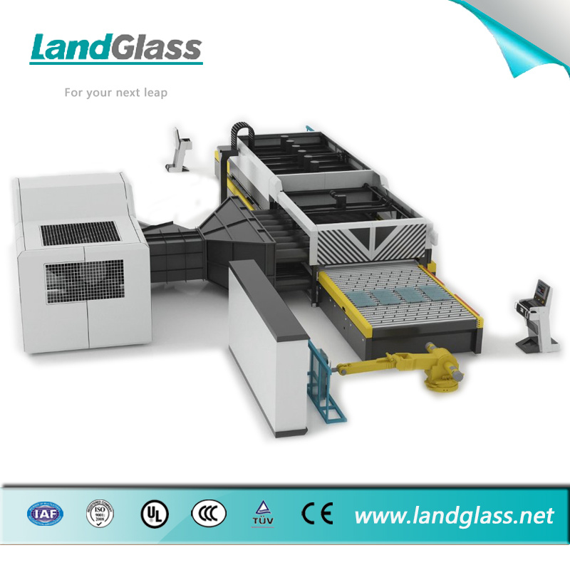 Landglass Jet Convection Horizontal Flat Glass Tempering Furnace Plant