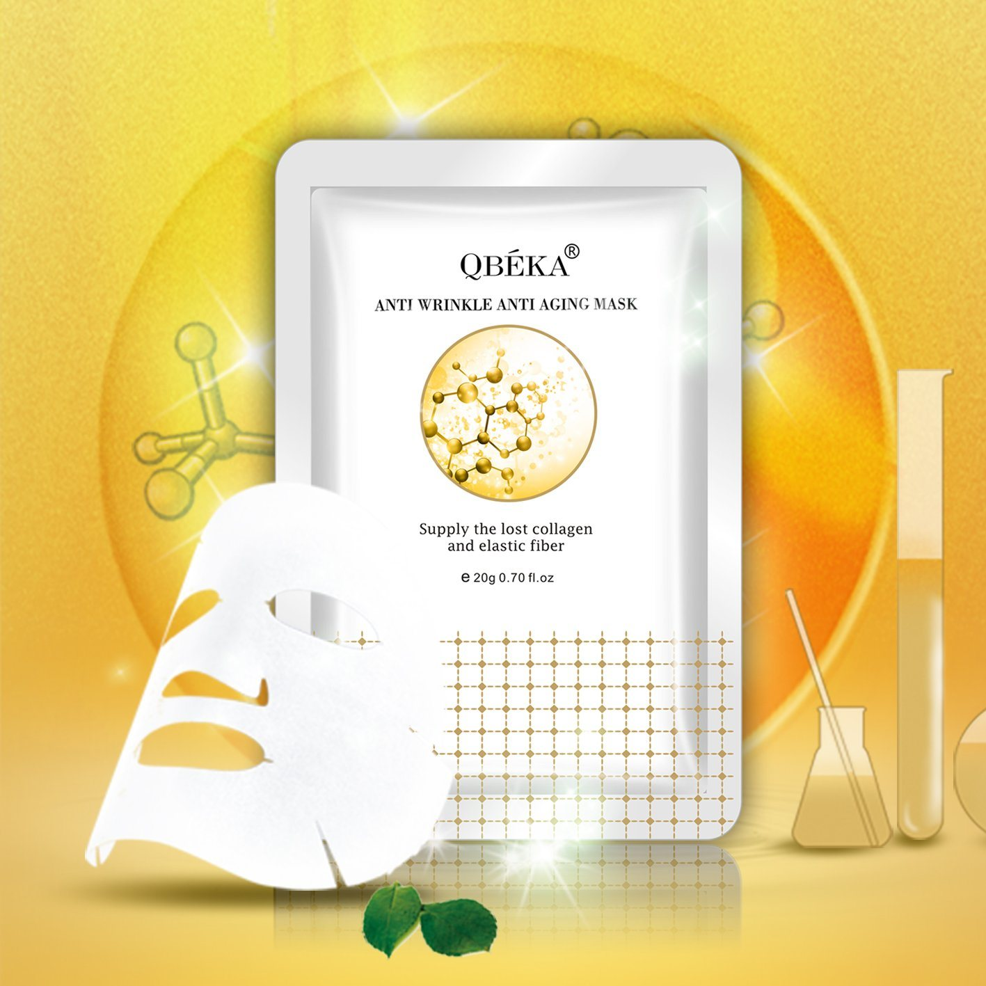 OEM QBEKA Anti Wrinkle Anti Aging Mask Private Label Face Mask Wrinkle Lifting Face Mask