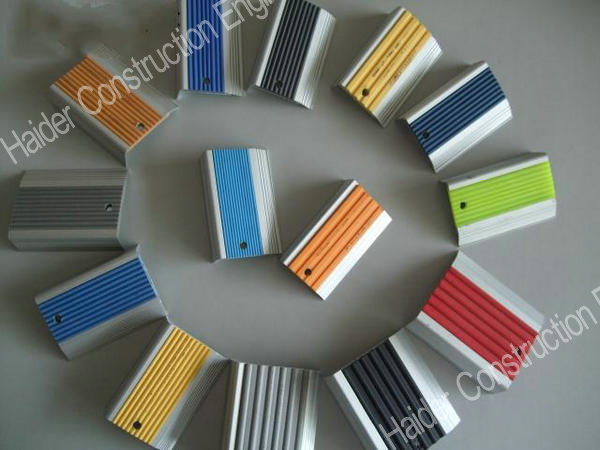Stair Nosing with Colored PVC Insert