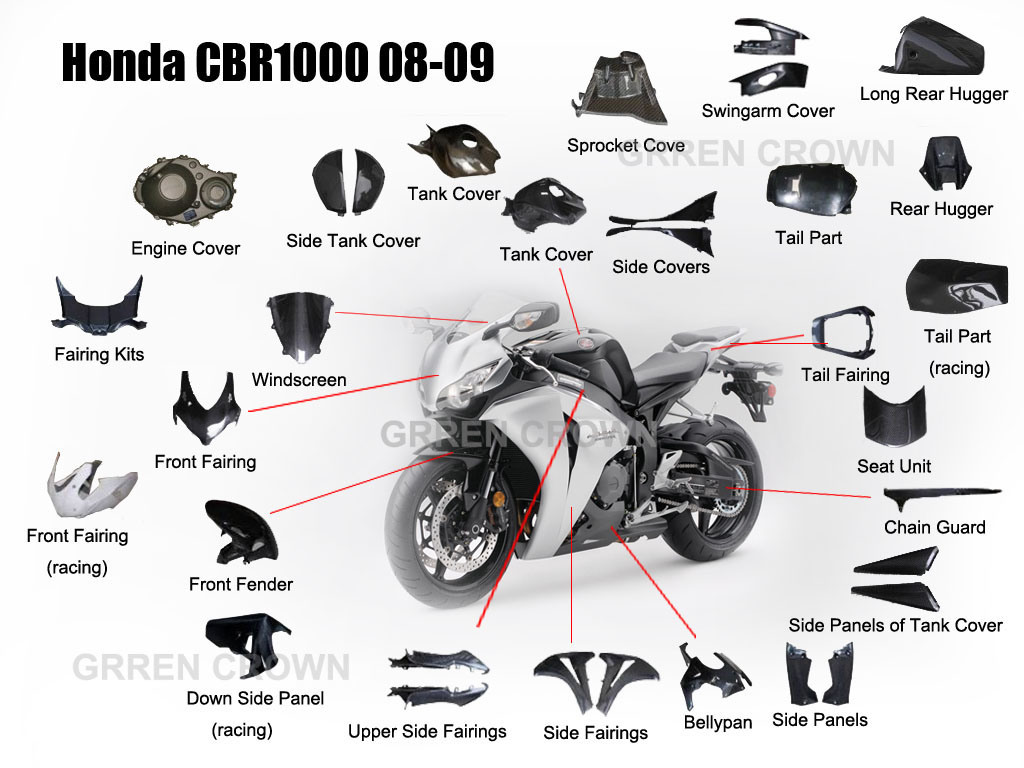 Motorcycle parts Headlight Head Light Lamp Assembly For Honda CBR1000RR CBR 1000 RR 2008 - 2011 08 09 10 11