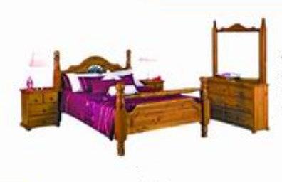 Slid Radiata Pine Wood Australia Bedroom Furniture Set