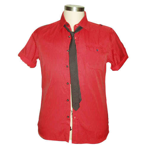 China mens casual short shirt with tie china shirt for Casual shirt and tie