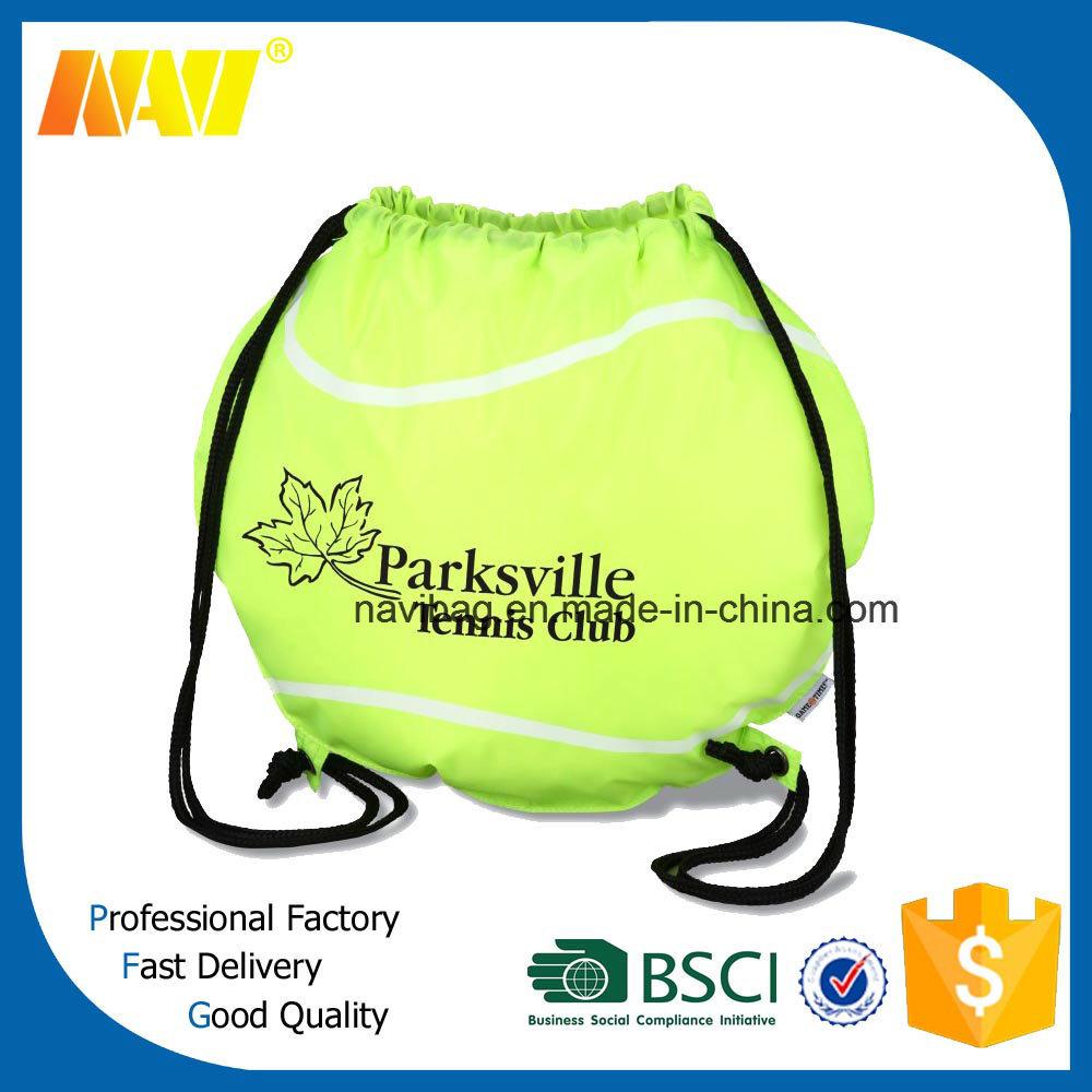 210d Polyester Nylon Football Shaped Drawstring Bag