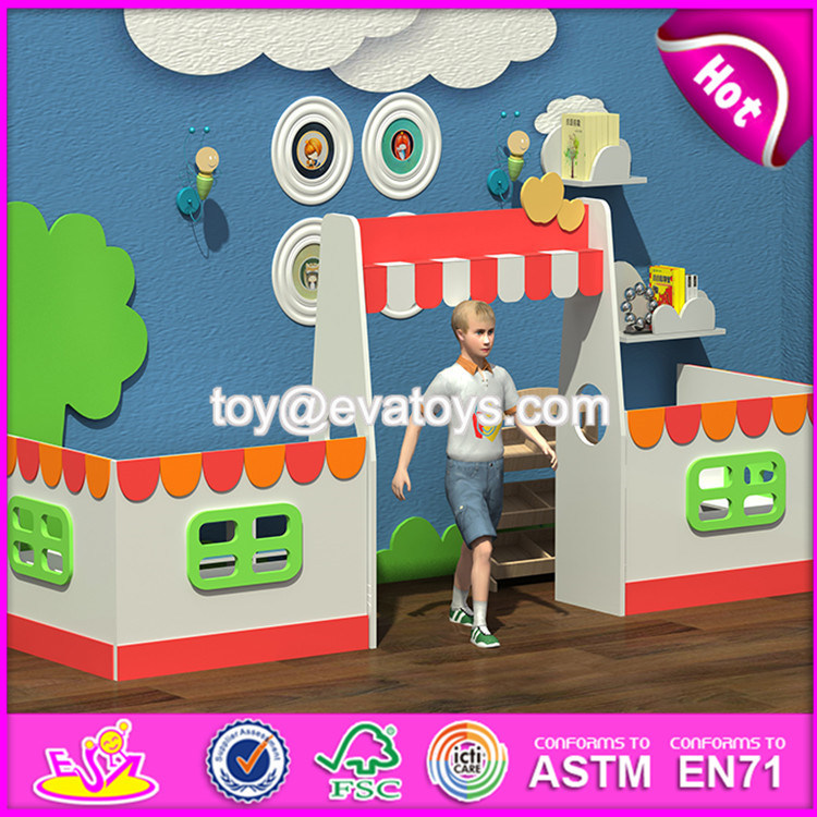 New Style Nursery School Wooden Kids Playhouse W08c184