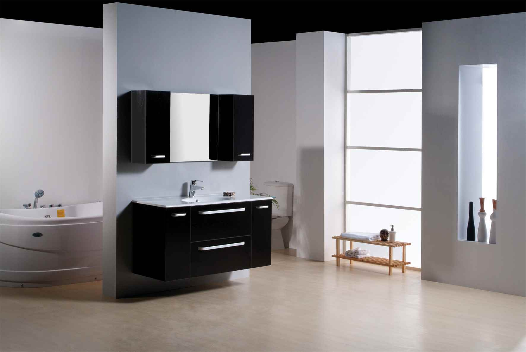 China new design bathroom cabinet china bathroom cabinet for Latest bathroom designs