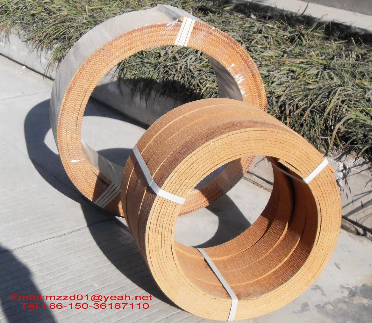 Woven Brake Lining Material : Resin woven brake lining roll for capstan china