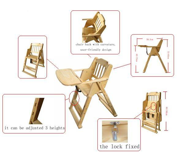 wooden high chair designs