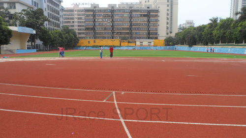 Synthetic PU Spray Coat Running Track with Iaaf Certificate