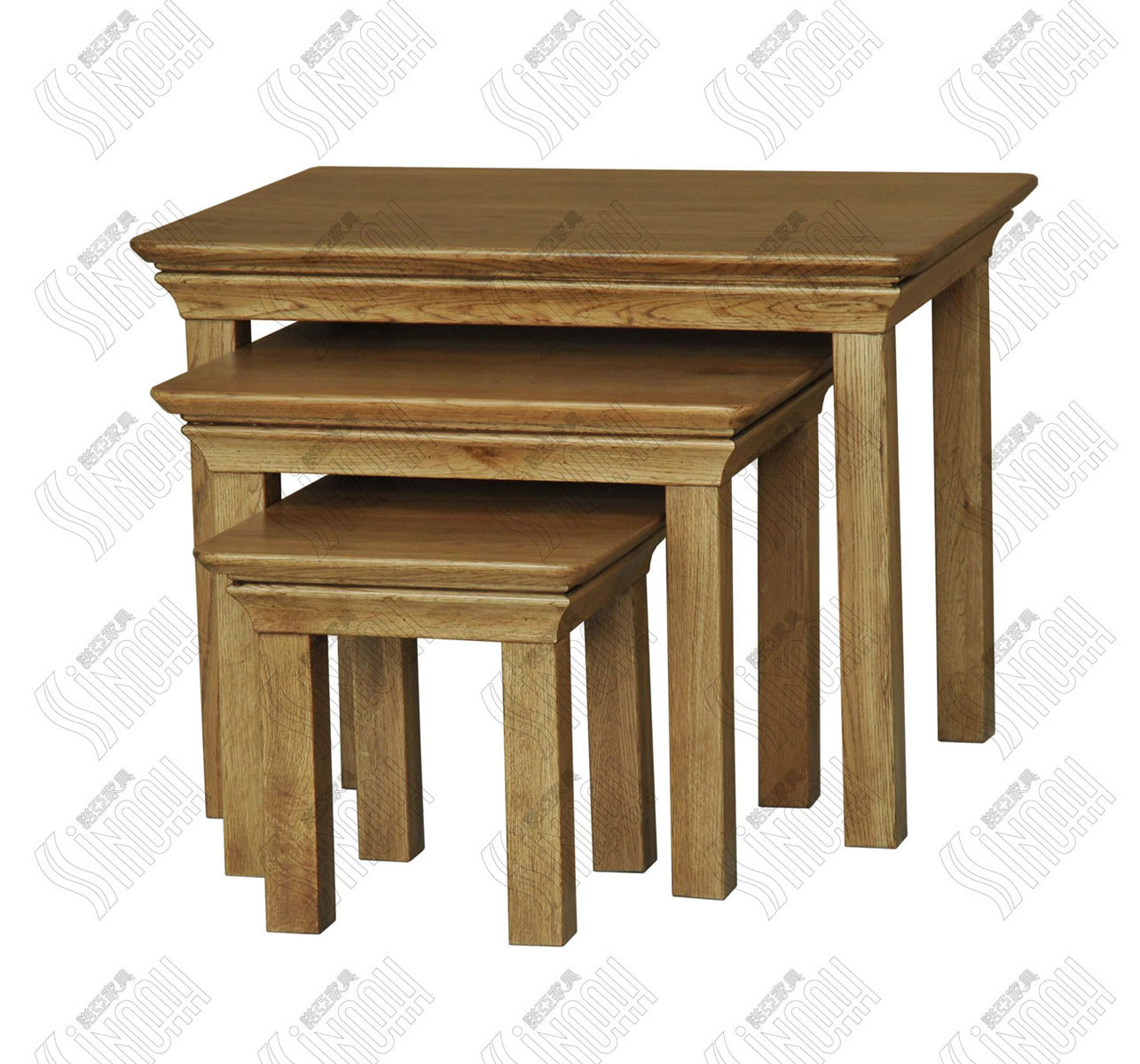 China solid oak nest tabe wooden nesting tables photos