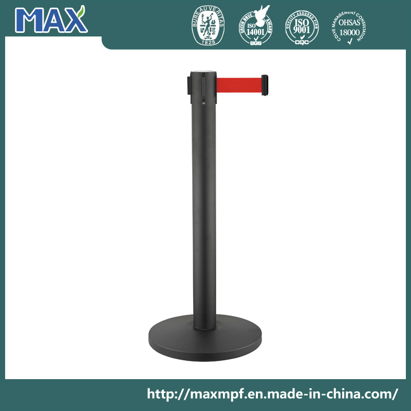 "Stainless Steel Stanchion 36"" Height Crowd Control Barrier with Retractable Belt"