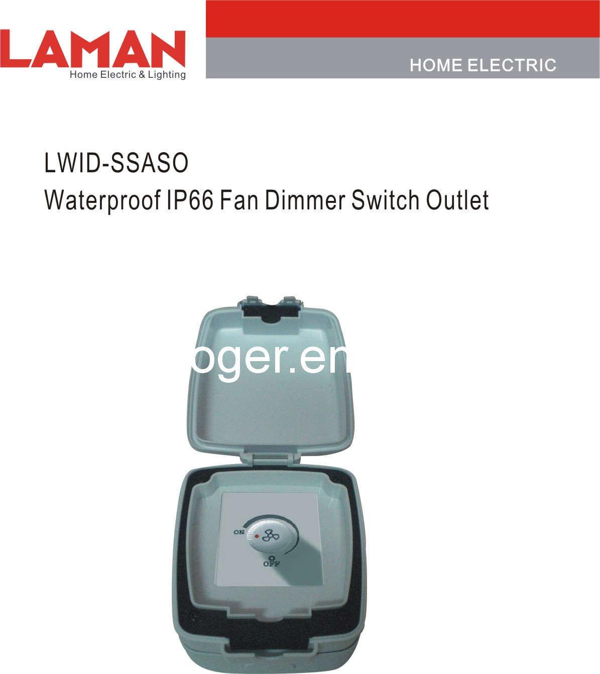 china lwid ssaso waterproof ip65 fan dimmer switch outlet china waterproof switch waterproof. Black Bedroom Furniture Sets. Home Design Ideas