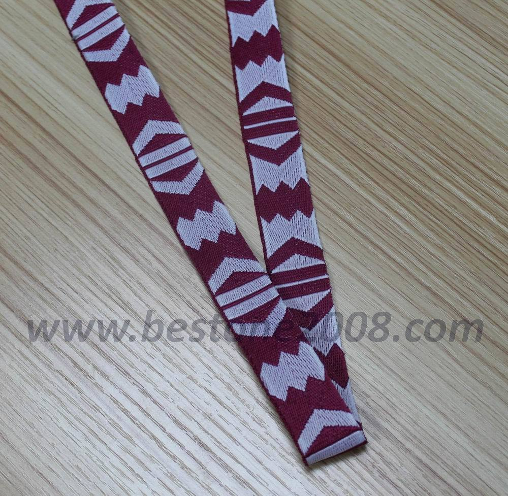 High Quality Polyester Jacquard Webbing for Bag (#1312-8)