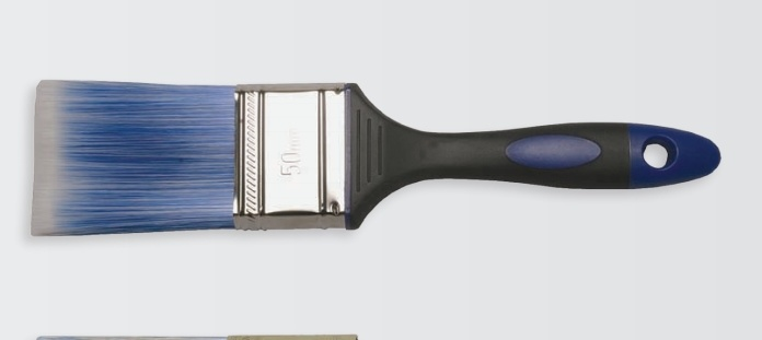 Rubber Handle Paint Brush Nylon Material