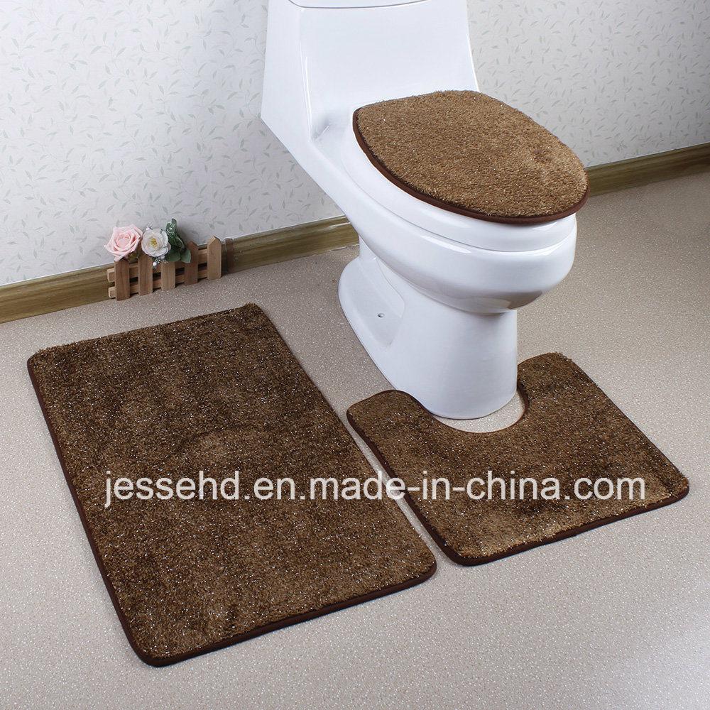 Good Quality Waterproof Home Textile Anti Slip Bathroom Mat Set