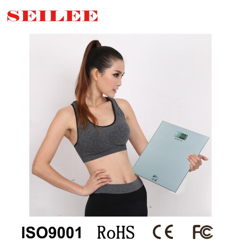 200kg Slim Design 8mm Glass Electronic Body Health Scale