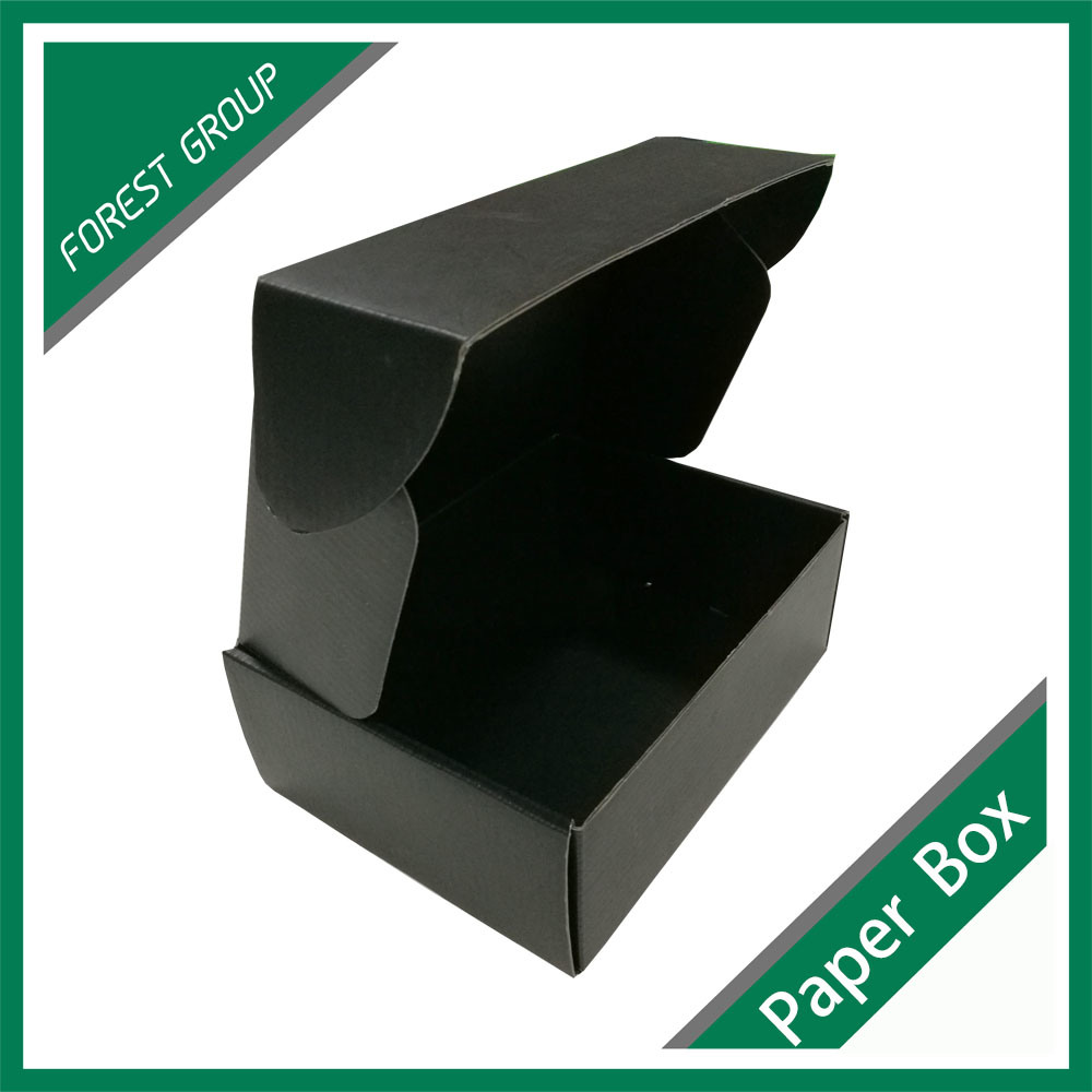 Full Matt Black Printing Box with Logo Foil