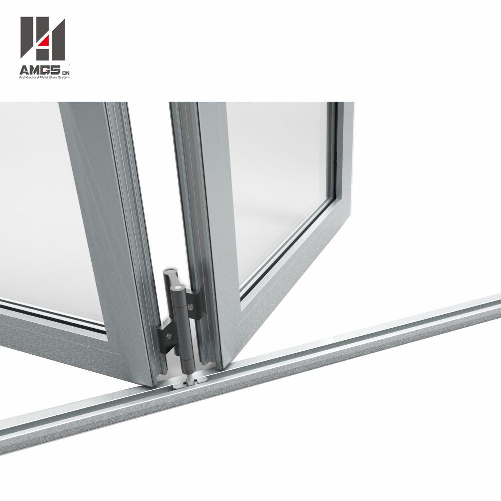 High Quality Customized Aluminum Folding Door with Double Glazing
