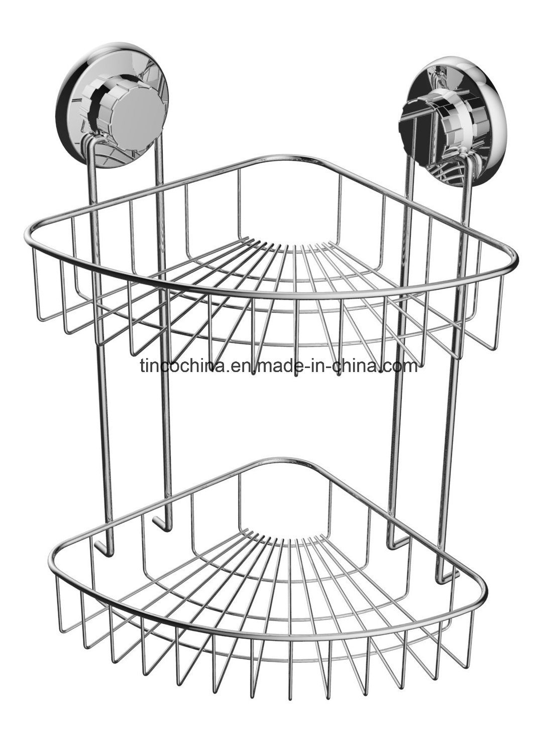 Bathroom Shower Caddy Organizer Shelf Rack with Suction Cup