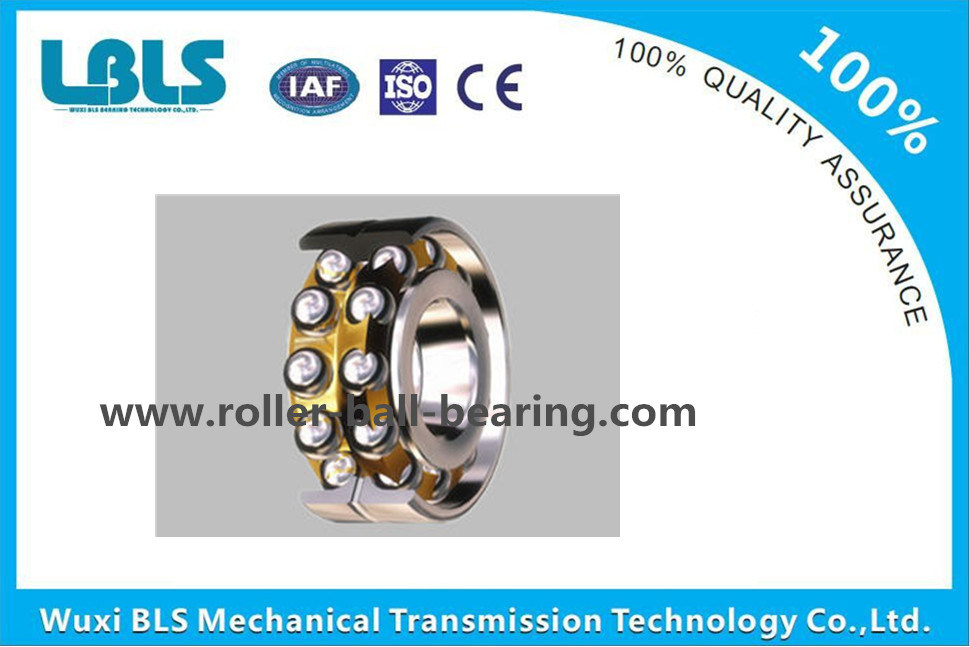 3214 Bearing Steel Brass Cage Double Row Angular Contact Ball Bearing P5 Precision China