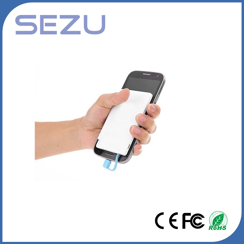 Slim Card Portable Power Bank with Charge Cable for iPhone Adn Samsung Suitable for Promotional Gift