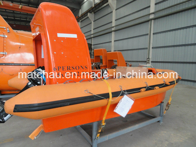 High Speed Rigid Inflatable Rescue Boat with Outboard Engine