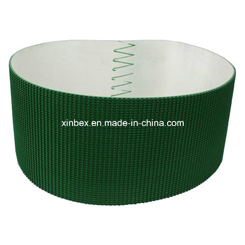 PVC Dark Green/Black Rough Top Pattern Incline Conveyor Belts