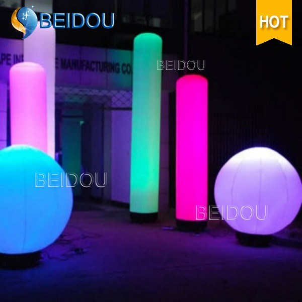 Events Decoration LED Inflatable Pillar Column Air Tube Cones Ivory Tusk