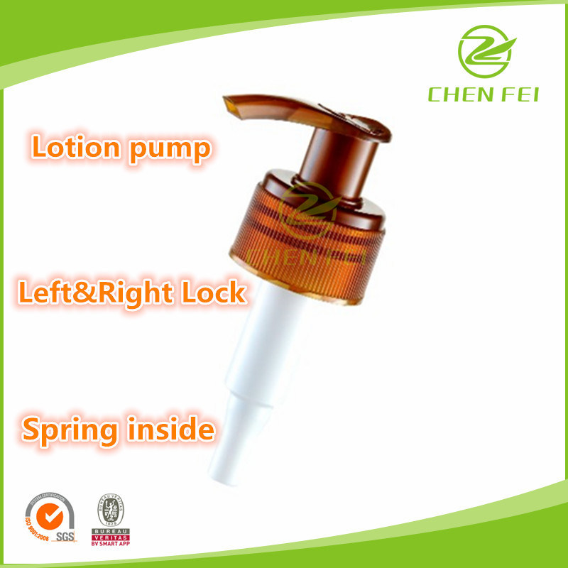 Custom Spring Outside 28/410 Plastic Lotion Pump for Bottle