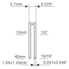 Stainless Steel 304 Staple 90 Series