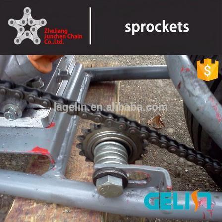 OEM Customized Hardened Teeth High Speed Roller Chain Ball Bearing Idler Sprocket