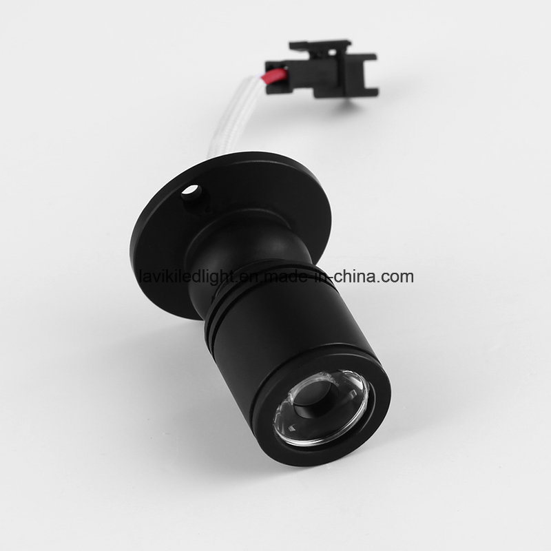 Surface Mounted COB Mini Spot LED Spotlight with 1W 3W for Cabinet, Showcase, Jewelry Shops