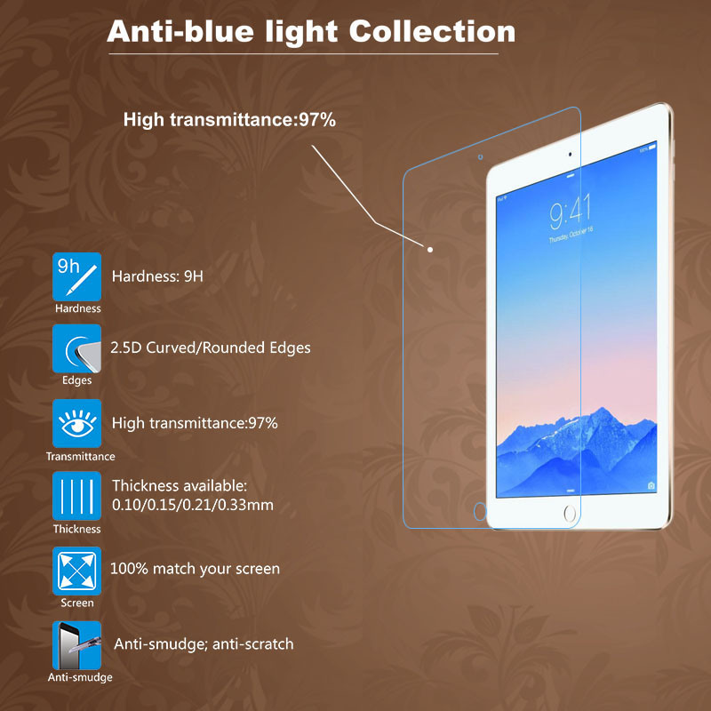 Premium Tempered Glass Screen Protector Protective for iPad