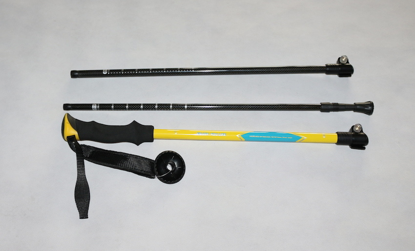 3 Section Durable 50% Carbon out Locker Trekking Stick (MW1049)