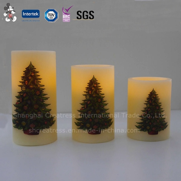 Traditional Christmas LED Candles with Battery