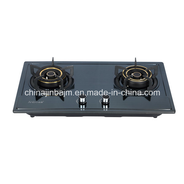 2 Burners Color-Coated Stainless Steel Built-in Hob/Gas Hob