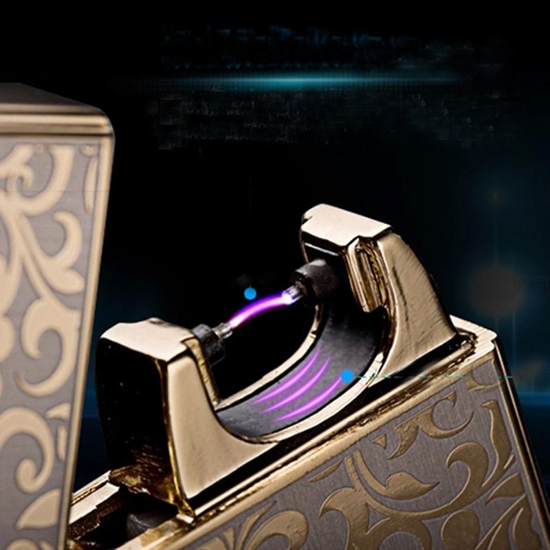 2015 New Design Cigarette Smoke Windproof Arc Lighter