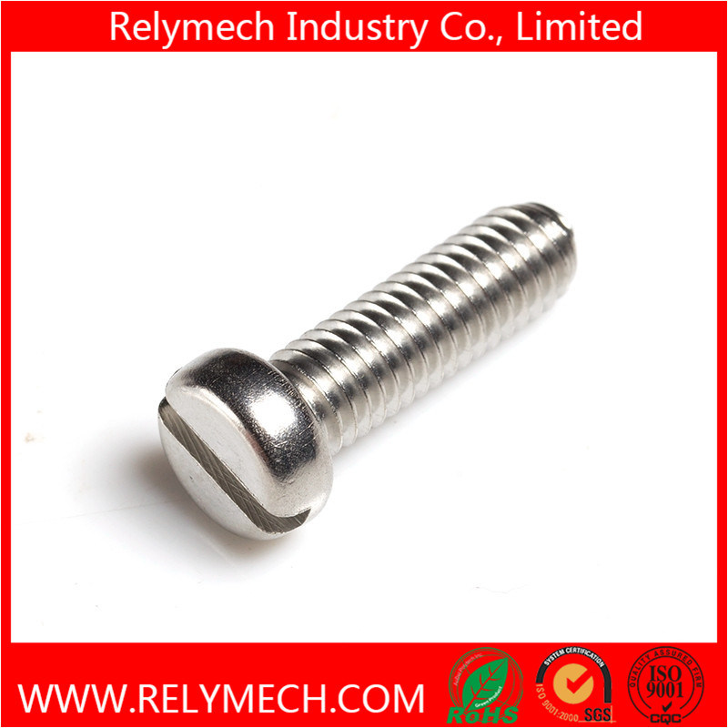 Slotted Cheese Head Machine Screw in Stainless Steel 304