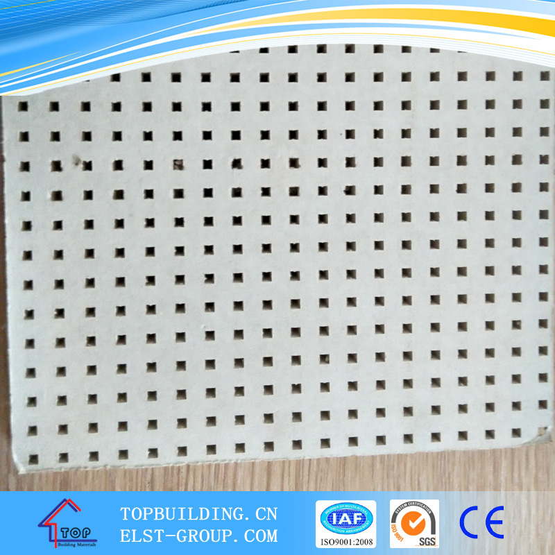 Perforated PVC Gypsum Ceiling Tiles /Perforated Ceiling Board Tile 595*595*9mm
