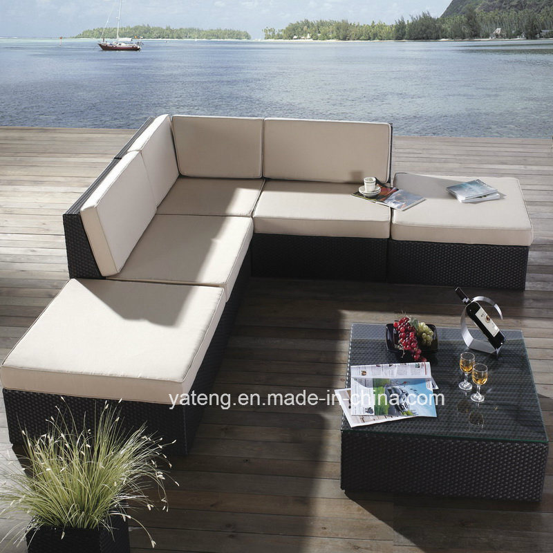 Cheap Outdoor PE Rattan Furniture Garden Synthetic Rattan Cornor Sofa