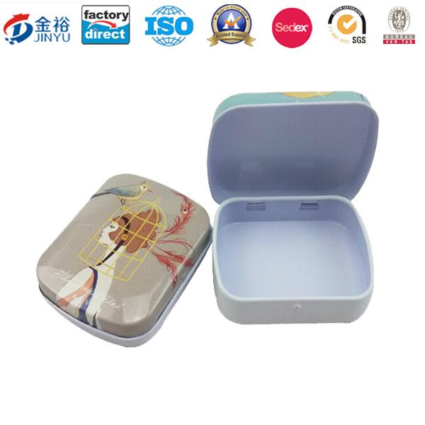 Custom Mini Sized Metal Hinged Food Packaging