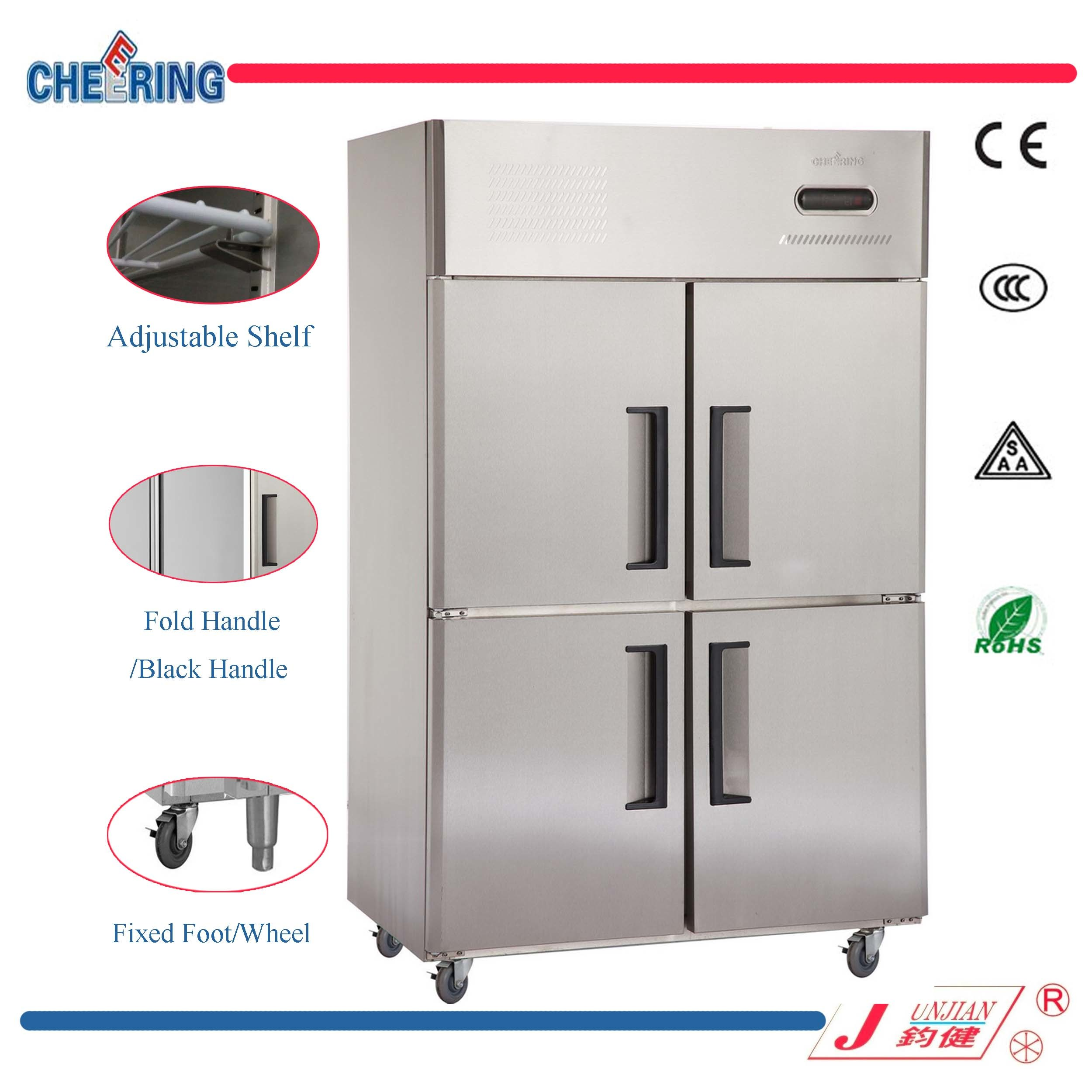 Ce Approved Commercial Stainless Steel Refrigerator