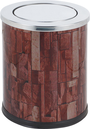 12liter Rounded Stainless Steel Swing Waste Bin for Office (KL-52)